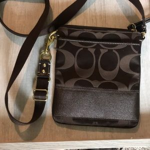 Dark brown coach purse